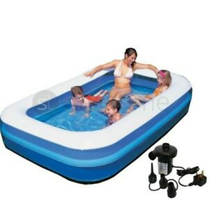 """Inflatable Paddling Pool Garden Kids Fun Toys Family Swimming Pools Outdoor 79"""""""