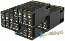 16 T701 non-OEM Ink Cartridges For Epson WorkForce Pro WP-4545DTWF WP-4595DNF