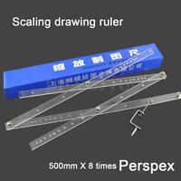 50cm Drawing Enlarger Reducer Tool Plexiglass Artist Pantograph Copy Craft