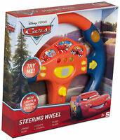 DISNEY PIXAR CARS KIDS ELECTRONIC CAR STEERING WHEEL PRETEND DRIVING TOY SOUNDS