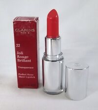 Clarins Perfect Shine Sheer Lipstick Transparence ~ 22 Coral Dahlia ~ .12 oz