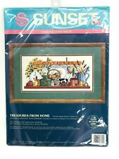 Sunset TREASURES FROM HOME Counted Cross Stitch 13579 Antiques on Shelf UNOPENED