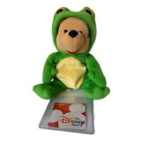 Walt Disney Frog Winnie the Pooh Bean Bag with Tags Plush Stuffed Toy New