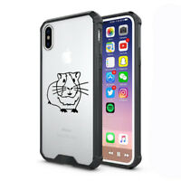 For Apple iPhone X XS Max XR Clear Shockproof Bumper Hard Case Cover Guinea Pig