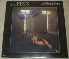 The Fixx Authentic Group Signed Shuttered Room Record Album Vinyl LP Autographed