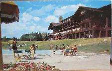 Montana Postcard Swimming Pool East Glacier National Park Lodge H Lowman 1960s