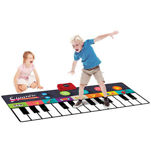 KIDS GIGANTIC ELECTRONIC KEYBOARD PLAYMAT MUSIC ART DANCE PARTY FUN PLAY MAT TOY