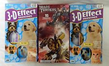 Valentine Cards Mello Smello Greetings 3D Pets Transformers Erasers Lot of 3 New