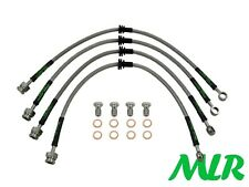 TOYOTA CELICA GT4 ST185 STAINLESS STEEL BRAIDED BRAKE LINES HOSES PIPES YG