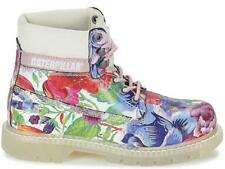 Caterpillar Women's Leather Boots Floral Print Leather Sz 3uk