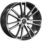 4-Kraze 183 Spectra 18x8 5x112/5x120 +40mm Black/Machined Wheels Rims 18