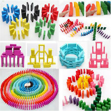 240pc Wooden Dominoes Games Block Board Game For Kids 12 Colors