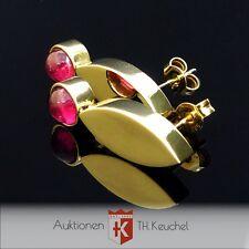 Ohrringe 585 Gelbgold rosa Turmaline Cabochon 14K Ohrstecker Wert ca. € 600.-