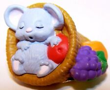 1988 Hallmark Thanksgiving Cute Mouse in Cornucopia NEW Merry Miniature QFM1514