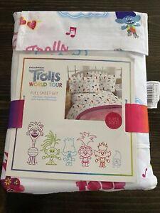 Trolls World Tour Full Sheet Set Kids Trolls in Harmony New Super Soft