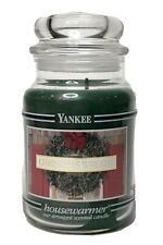 Yankee Candle Company Jar Christmas Wreath Black Band 22 Oz Large Unused