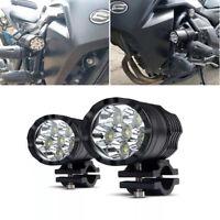 2Pcs 120W 12000LM Motorcycle LED Spot Lights Fog Lamps w/ Switch Universal