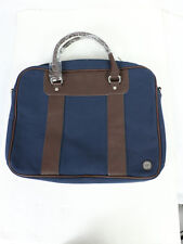 Ben Sherman Mens Navy Blue Fabric Pack Crossbody Travel Work Messenger Bag