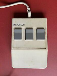 Logitech 3 Tasten Maus Model C7 mit Kabel mit seriellem und parallelem Stecker