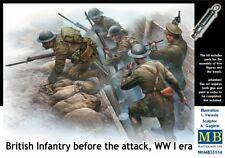 Master Box 1/35 infanterie britannique avant l'attaque de la première guerre mondiale Era # 35114