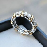 Fashion Stainless Steel Zircon Women Crystal Gold Silver Plated Ring Jewelry