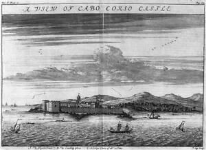 A View of Cabo Corso Castle,Cape Coast Castle,Gold Coast,West Africa,1744 1494