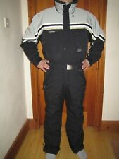 """RARE Extreme Henry Duvillard 40"""" Black One-Piece Large Men's All in One Ski Suit"""
