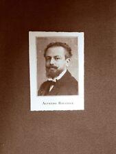 Alfredo Baccelli Scrittore Roma, 10 settembre 1863 – Roma, 12 settembre 1955