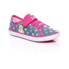 Keds Barbie AC Girls Slip On Strap Shoes Kids Denim KT55373 Pink UK Size 4.5 K