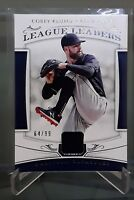 2018 National Treasures League Leaders COREY KLUBER Jersey Relic /99