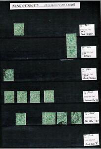 12 EX DEALER STOCK PAGE SIDES OF GB GEORGE V - MANY 100's -  SG's RANGE 321 >396
