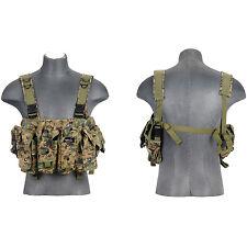 Airsoft AK M4 Chest Rig Tactical VEST Magazine Clip Pouch Digital CA-308D Camo