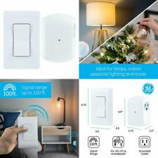 Wireless Remote Wall Switch Control No Wiring Needed 1 Grounded Outlet Plug-in