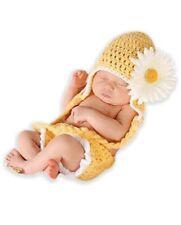 Newborn Babies Chunky Sunflower Cap & Short Set Costume Photography Props Uk