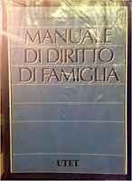 Manuale Di Diritto Di Famiglia,Bonilini, Giovanni  ,Utet,2000