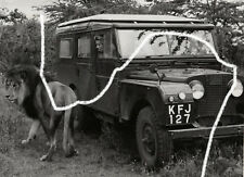 18x13cm Karl Bayer film stand foto 1956 Erica Beer Land Rover Leone Still Photo 2