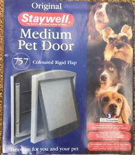 Petsafe Staywell Original 755 Medium Dog Cat Flap Pet Door 2-Way Locking White