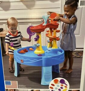 Step 2 Archway Falls Kids Toddler Water Table With Accessories Hours Of Fun New