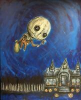 GUS FINK art artist Painting outsider horror surreal lowbrow SAM TRICK OR TREAT