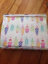 Maggie Miller Ice Cream/Popsicle Twin Sheet Set NEW