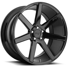 "4-Niche M168 Verona 18x8 5x4.5"" +40mm Gloss Black Wheels Rims 18"" Inch"