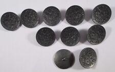 Metall  Knopf Knöpfe 10 Stück  eisen   wappen    22,5  mm groß   #400#