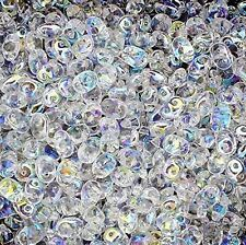 Czech Superduo Two-hole Beads 5x2.5mm Crystal AB 24 Gram SD-500030-28701
