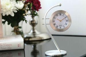 Modern Aluminium Desk Table Clock Home Decoration Roman Numeral - Gift Idea/Him