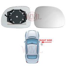 FIAT PANDA 2009->2014 DOOR MIRROR GLASS SILVER, NON -HEATED & BASE,RIGHT SIDE