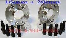 2005-/>2011 CON BULLONI E90 KIT 4 DISTANZIALI RUOTE 16+20 mm BMW SERIE 3