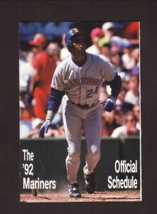 Seattle Mariners--Ken Griffey, Jr--1992 Pocket Schedule--Budweiser