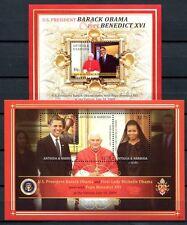 ANTIGUA 2009 B. Obama Papst Benedikt Pope Benedict 4674-76 + Block 659 **