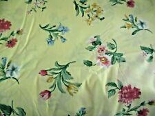 Vtg. Springs Yellow Floral King Size Flat Sheet~Made USA