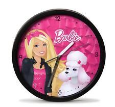 Nici 34378 Horloge murale Barbie et Caniche Sequin Chambre d'enfants Diamètre